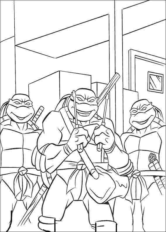Dibujos para Colorear Tortugas Ninja 30 | Dibujos para colorear para ...