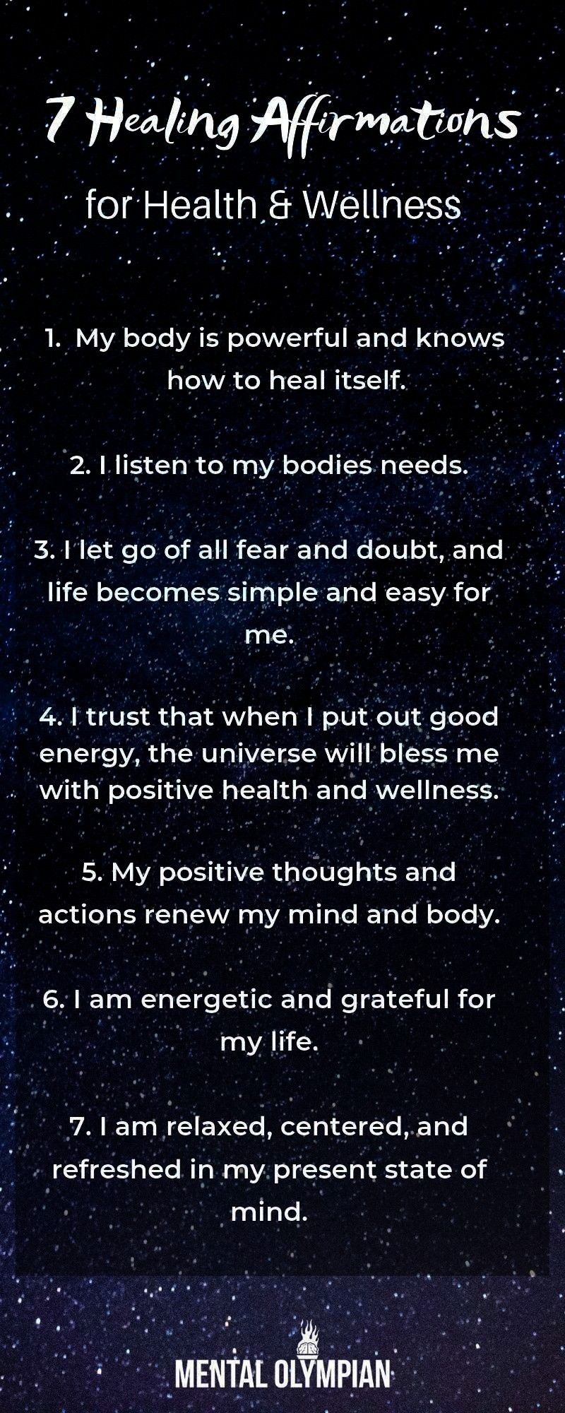 for Health and Wellness  Heal yourself with these mindful affirmations Allow the Law of attraction to serve you7 Healing Affirmations for Health and Wellness  Heal yourse...