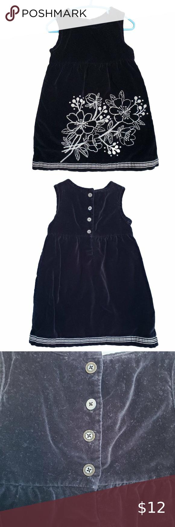 Old Navy Black Velvet Dress White Embroidery 3t Black Velvet Dress Velvet Dress White Embroidery [ 1740 x 580 Pixel ]