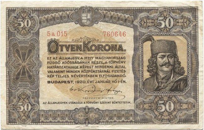 50 Korona 1920 (II. Rákóczi)