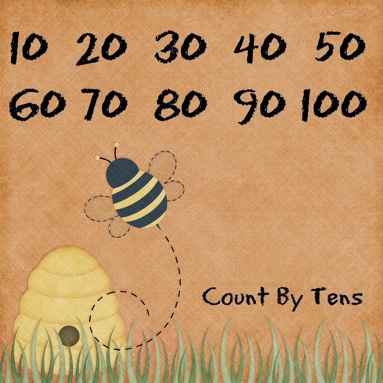 Busy Bee Skip Counting Worksheet