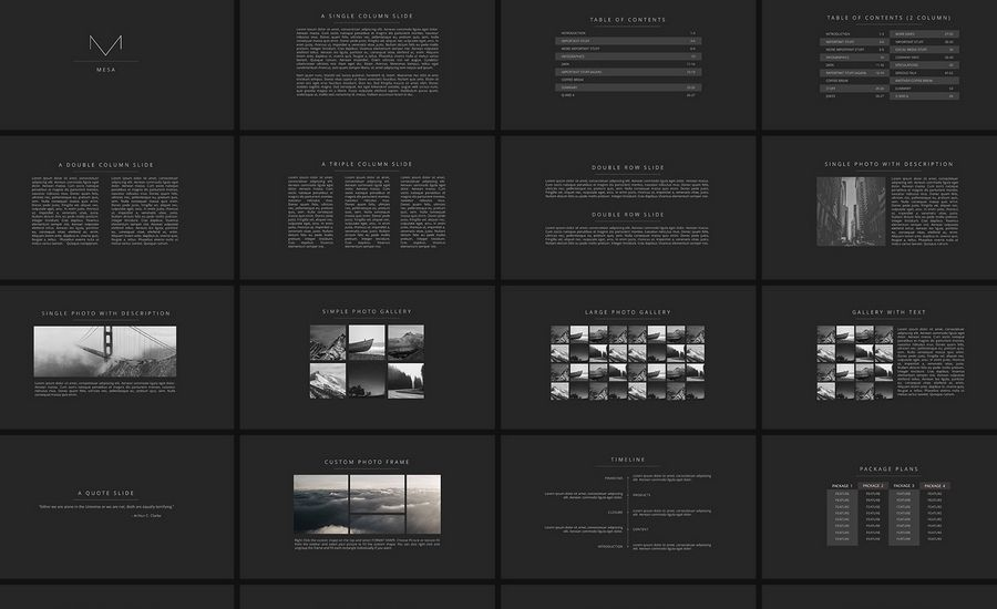 Mesa  Elegant Presentation  Book Layouts