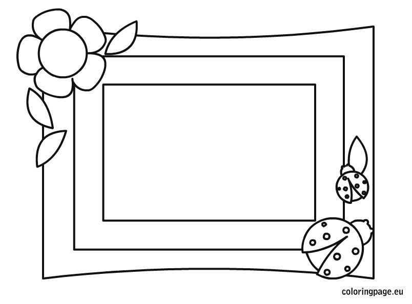 Photo Frame Mother Day Coloring Coloring Pages Mothers Day Coloring Pages Heart Coloring Pages