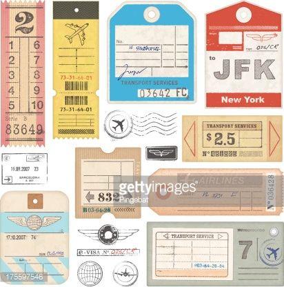 AIRPLANE ticket stickers - Buscar con Google