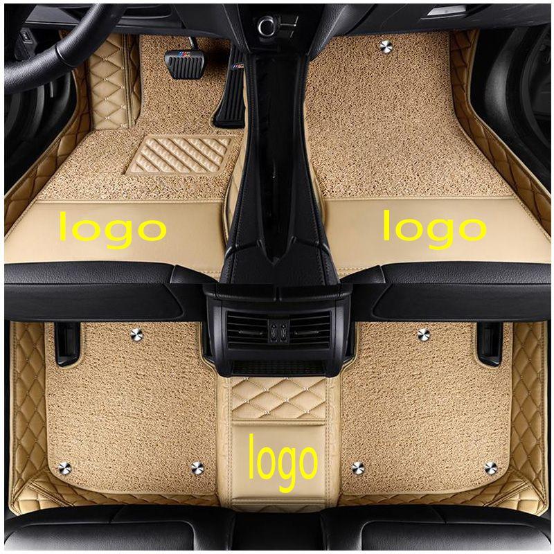 Custom Car Logo Car Floor Mats For Mercedes Benz E Class W210 W211 W212 W213 320 Amg E63 E43 Leather Anti Slip Carpet Cover Benz E Custom Cars Benz E Class