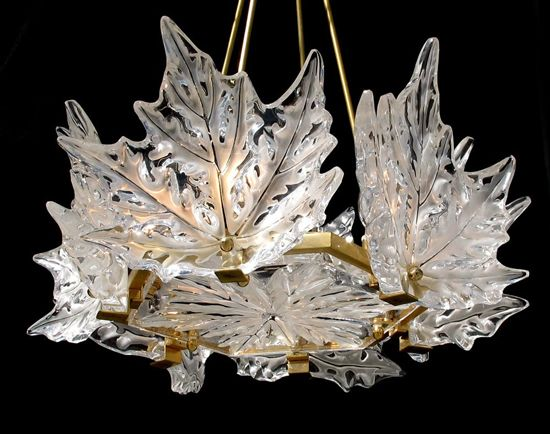 The Crystal Lamp Leaves Of Laliques Elysees Chandelier Lalique