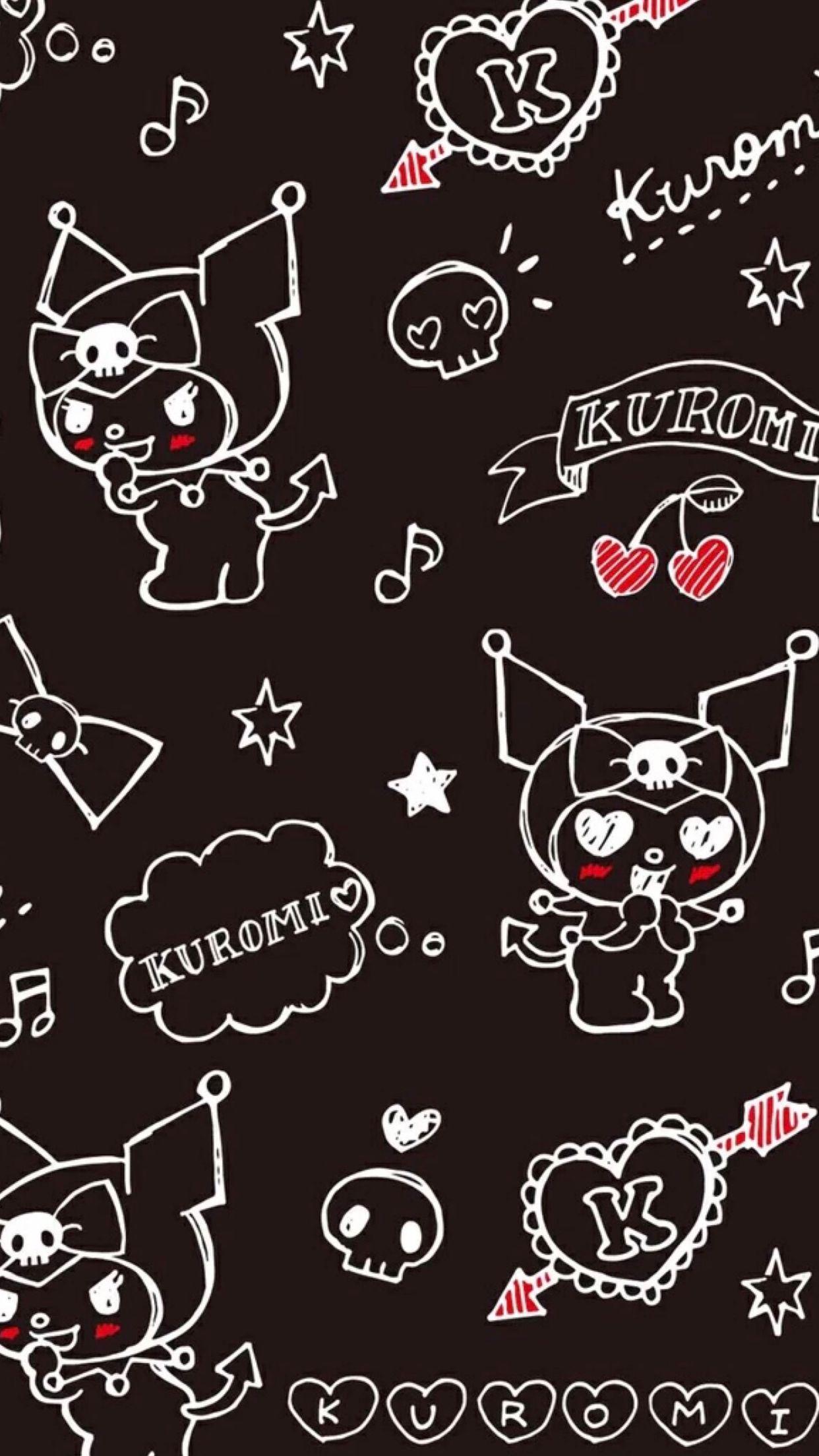Kuromi クロミ 壁紙 くろみ 壁紙 可愛い壁紙