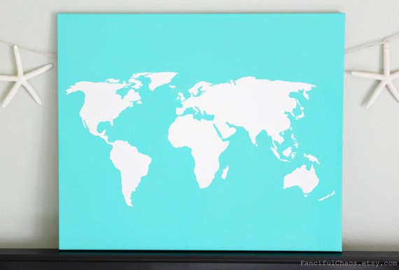 World diy customize map 20x24 canvas acrylic painting wall bedroom world diy customize map 20x24 canvas acrylic painting wall gumiabroncs Images