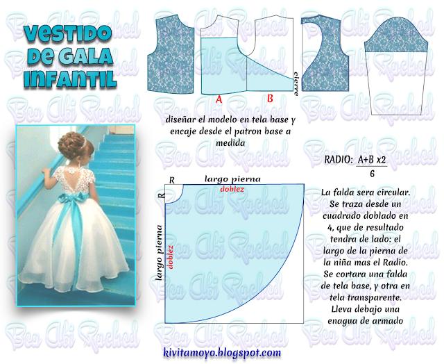 Kivita Moyo Vestido De Gala Infantil Patrones Para