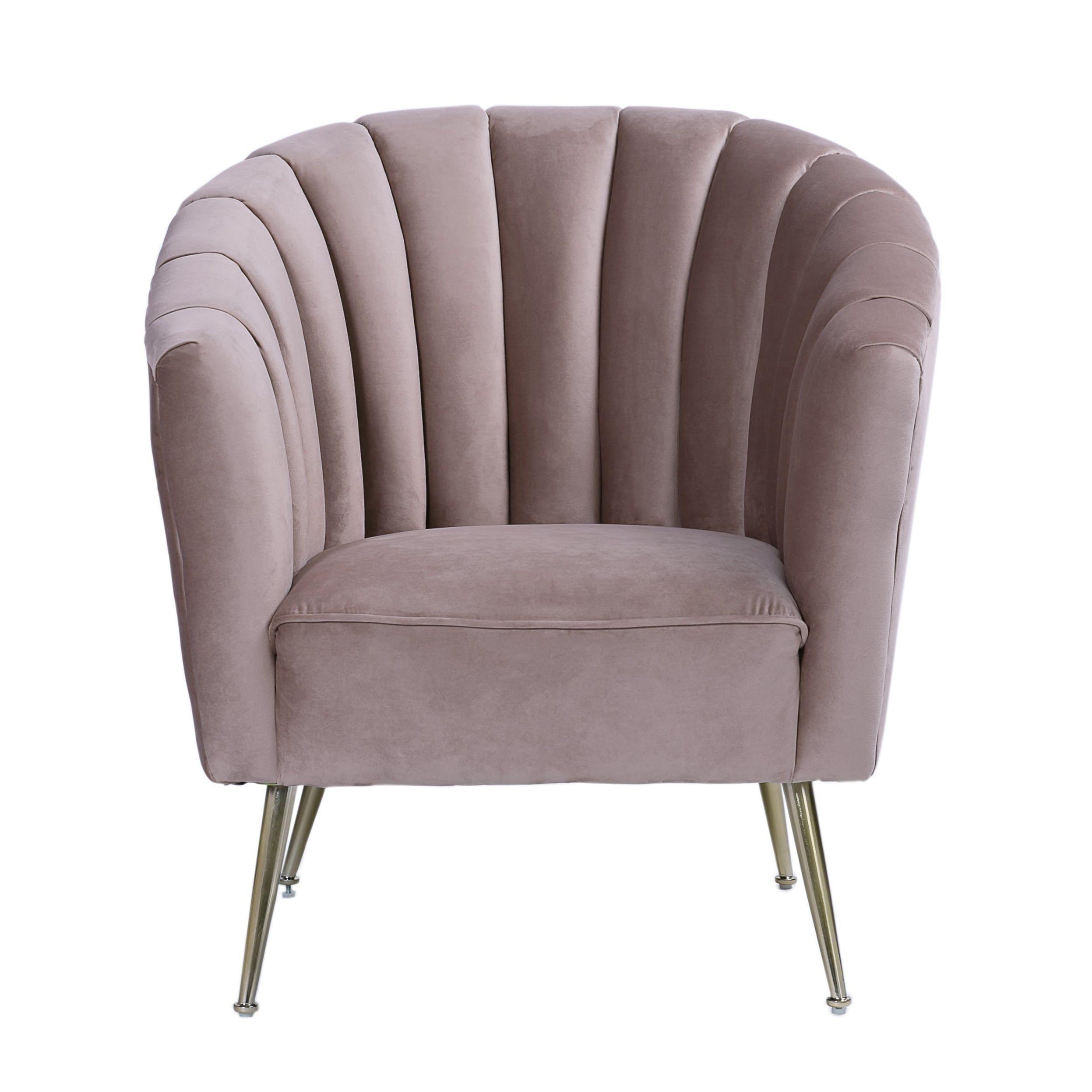 Best Rosemont Accent Chair Blush Pink Ceets Velvet 400 x 300