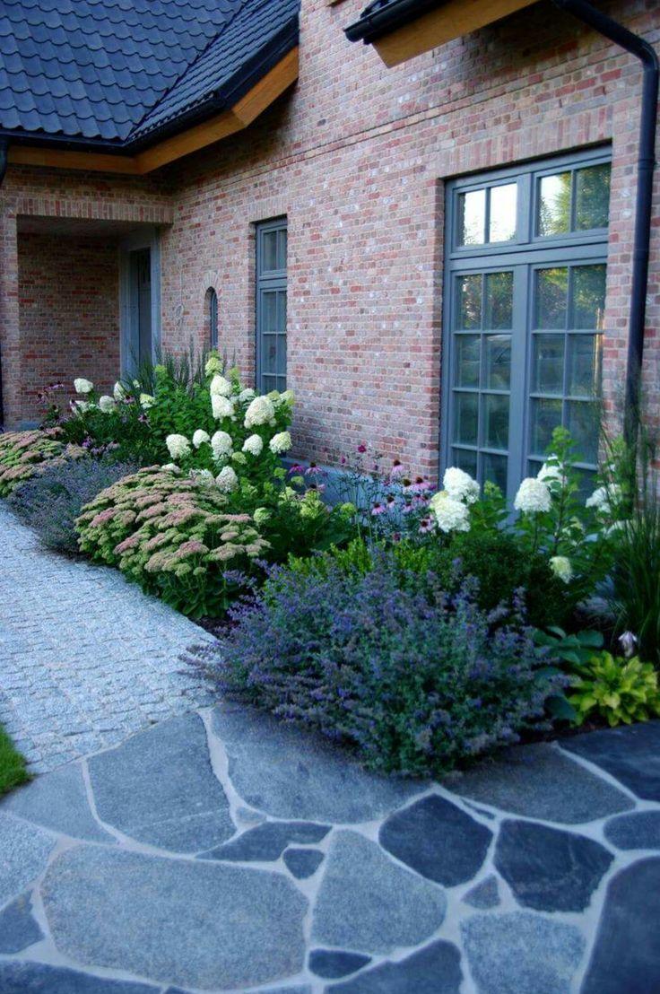 Was für ein toller Eingang   Garten, Vorgarten ideen ...
