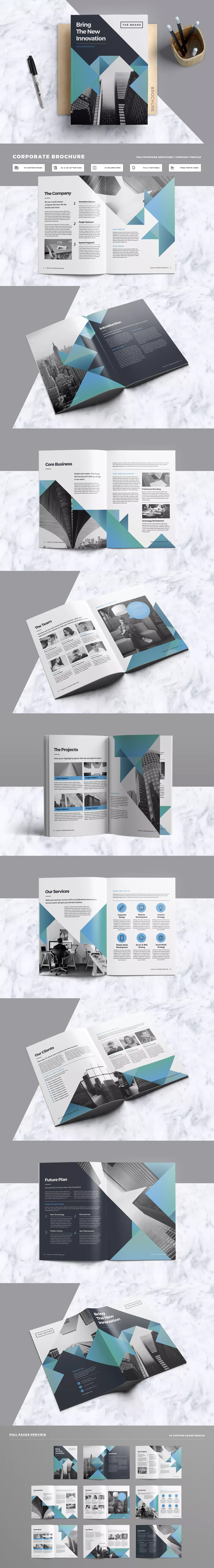 Brochure Template InDesign INDD A4 and US Letter Size | Graphic ...