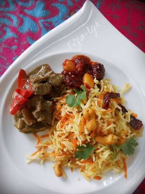 nasi carrot  mudah  sedap fizas cooking breakfast sarapan bento bekal nasi Resepi Mee Jawa Tanpa Daging Enak dan Mudah