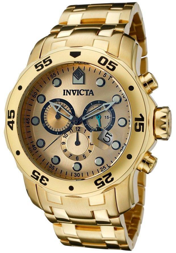 b05ebf9e2925 Invicta Hombre 0074 Pro diver Reloj Acero inoxidable Dorado ...
