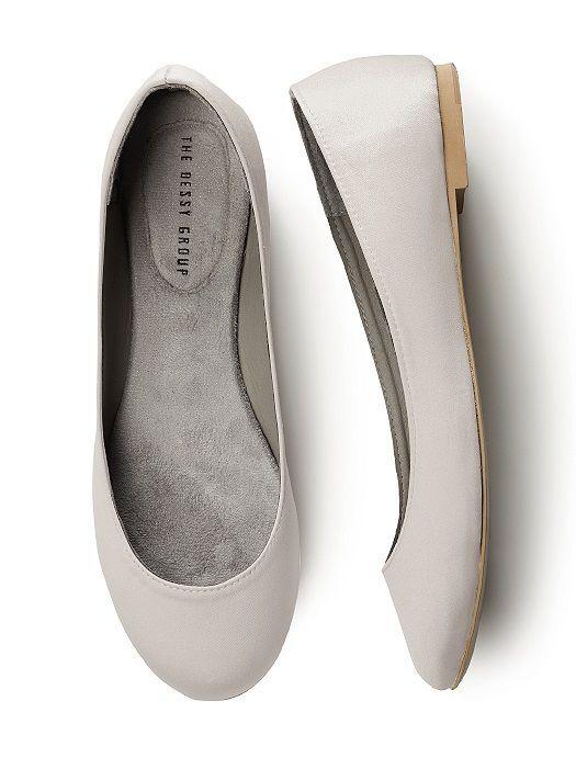Simple Satin Ballet Wedding Flats ,  Simple Satin Ballet Wedding Flats ,