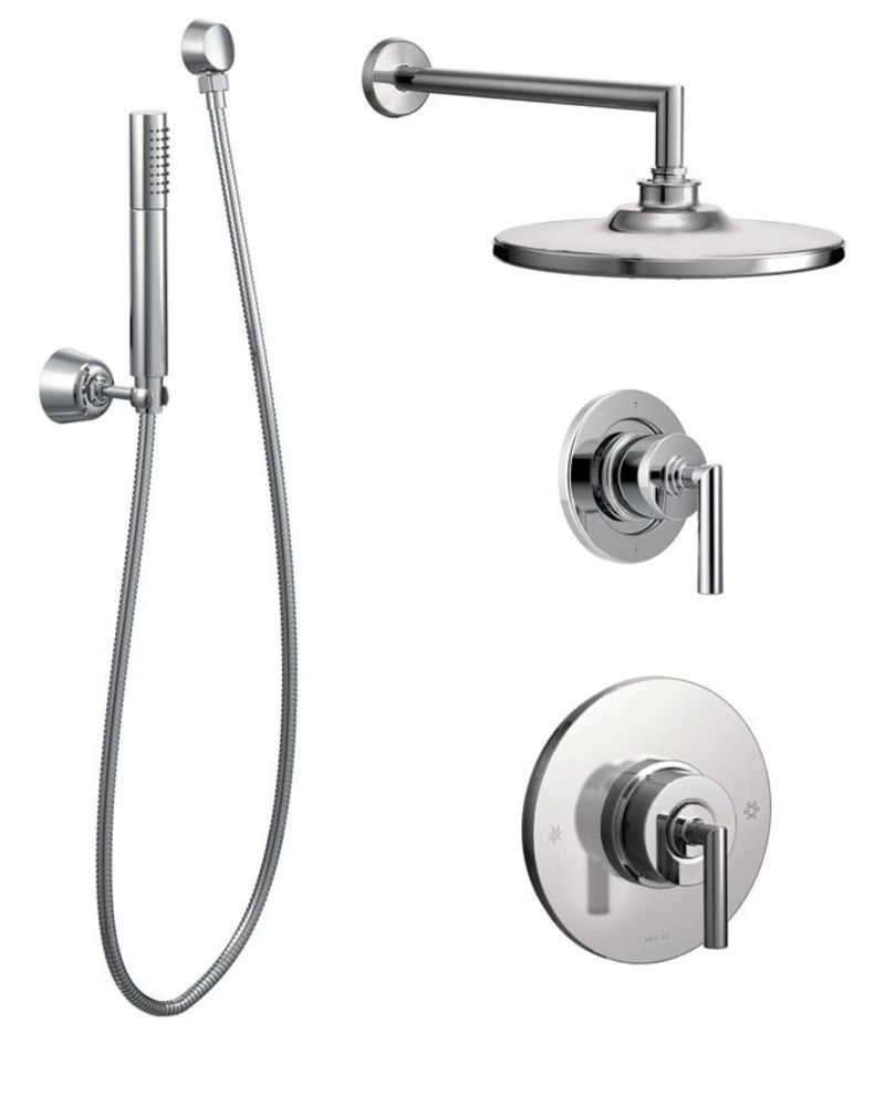 Moen 925 Pressure Balanced Shower System With Rain Diverter And Hand Sh Chrome Faucet Custom