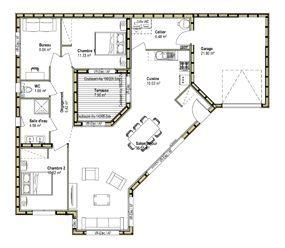 plan maison moderne 100m2 14 les 25 meilleures id233es | Cards ...