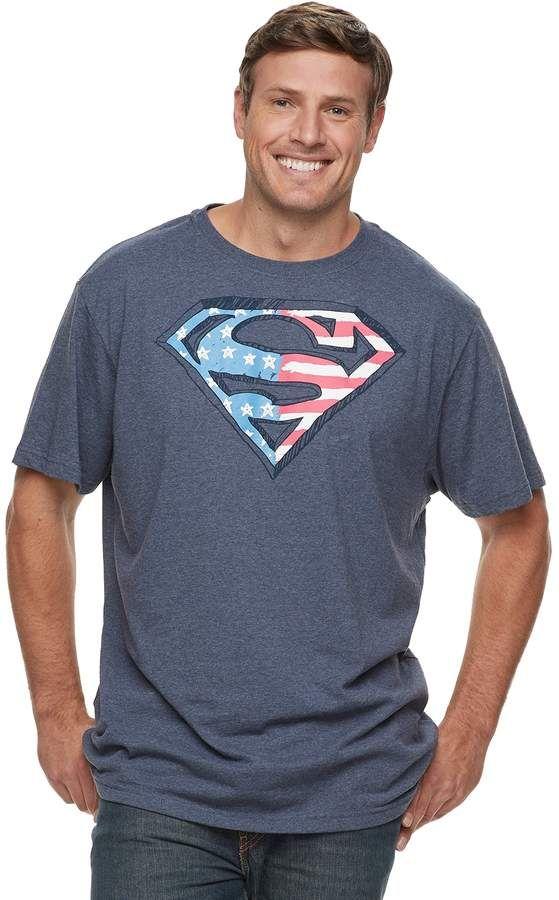 9864d9c1a Big & Tall Superman Americana Graphic Tee #patriotic#delivers#shirt ...