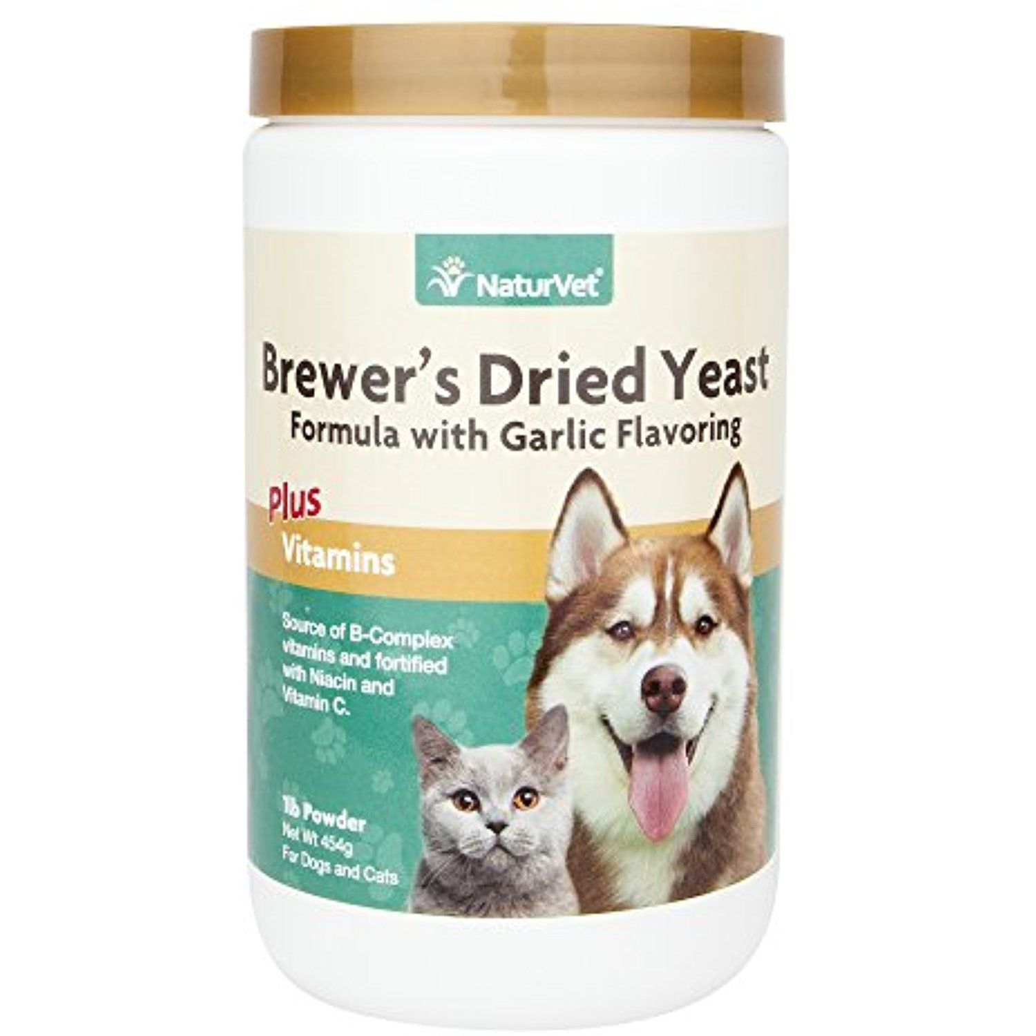 Naturvet Brewer S Dried Yeast Formula With Garlic Flavoring Plus Vitamins For Dogs And Cats 1 Lb Powder Made In Brewers Yeast For Dogs Dry Yeast Can Dogs Eat