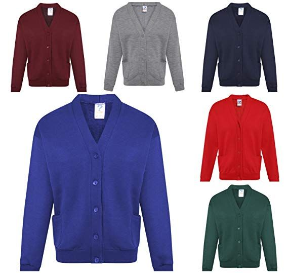Unisex Boys Girls Kids School Uniform V Neck Full Sleeve Sweater