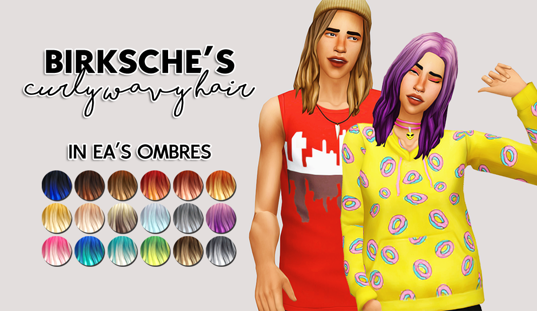 sims 4 mm cc maxis match hair recolour ombres zohnny jest