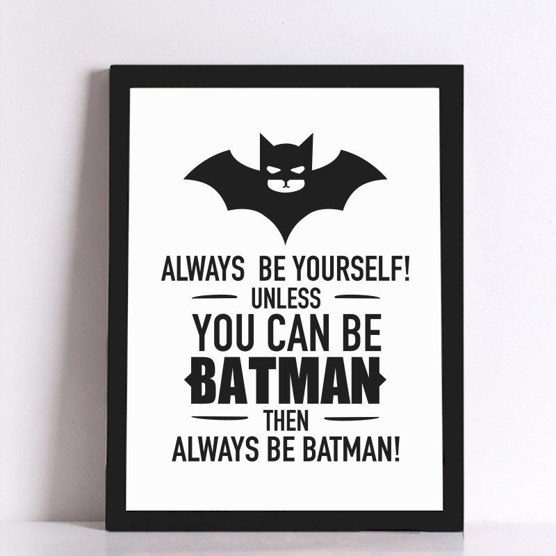 Batman Quote Canvas Art Print Poster Wall Pictures For Home