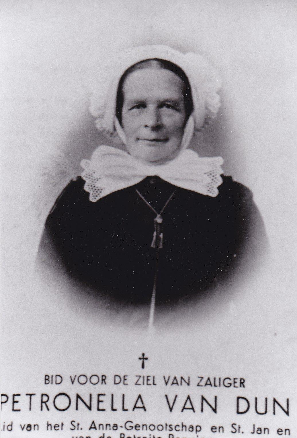 Petronella van Dun Geb: Goirle 25-01-1864 Overl: Goirle 22-10-1936  #NoordBrabant
