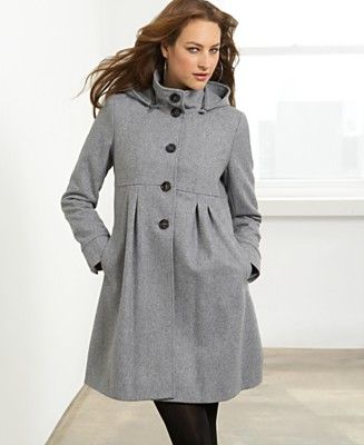 DKNY Wool Coat, Hooded A-Line - Customers' Top Rated Coats ...