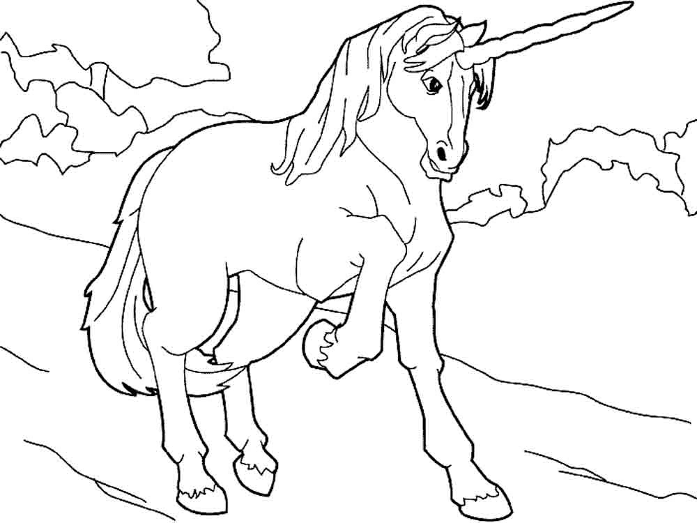 Gambar Mewarnai Unicorn 3 Horse Coloring Pages Pinterest
