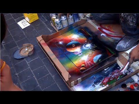 Amazing Street Artist - Amazing Street Art Painting - Spray Paint Art - YouTube