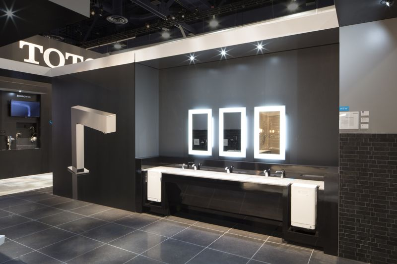 Our Commercial Bathroom Featured Our Clean Dry Sensor