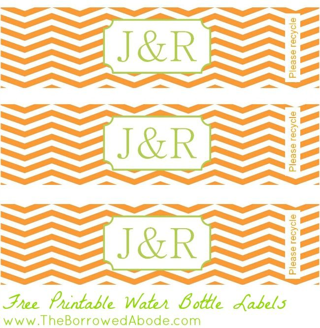 Free Printable Water Bottle Labels  The Borrowed Abode  All