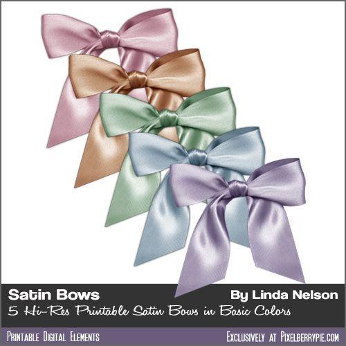 Free PSD Ribbons And Bows Clipart Printable Hi-Res Satin Ribbons ...
