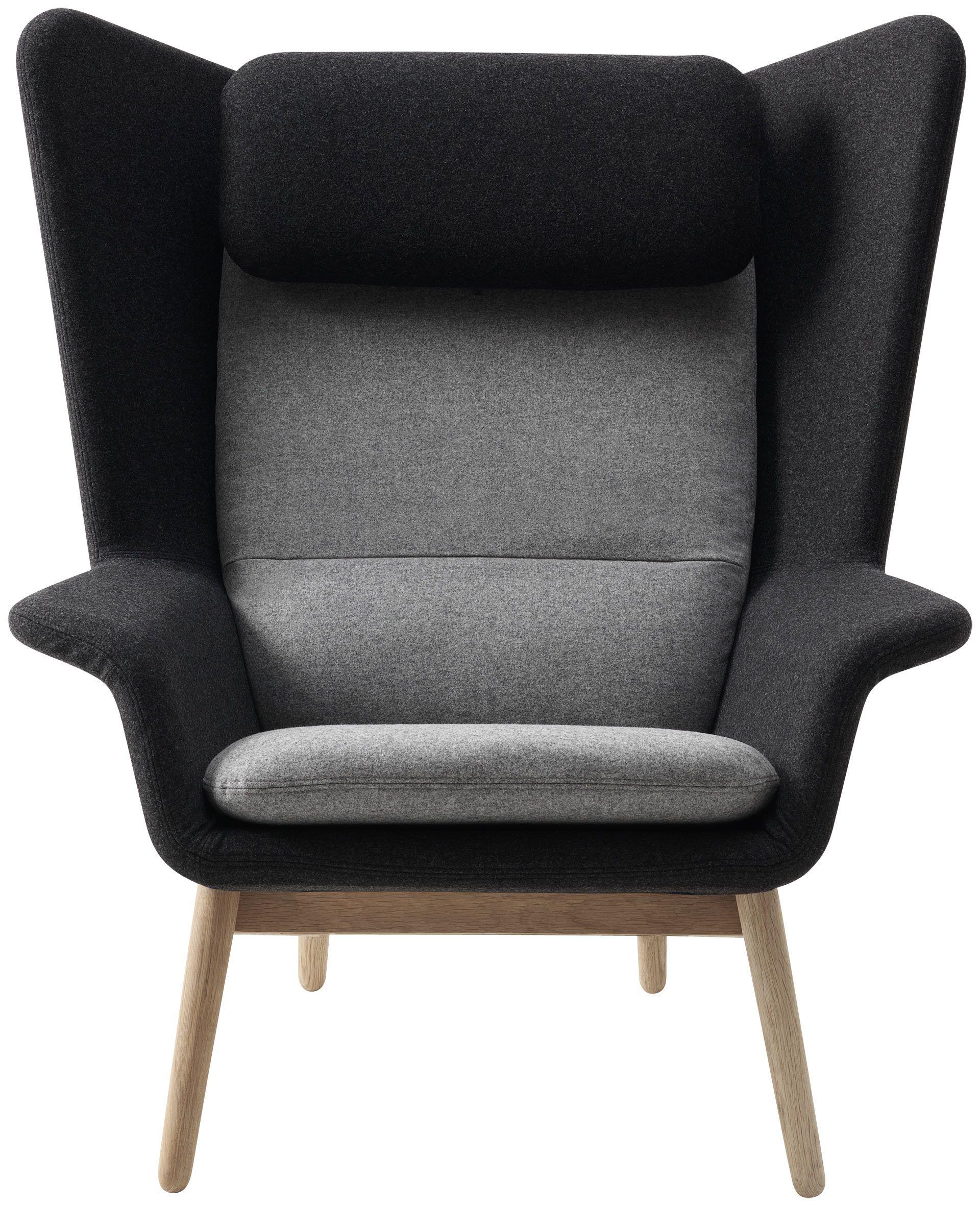 Wonderful BoConcept Hamilton Chair   Two Toned Grey Felt