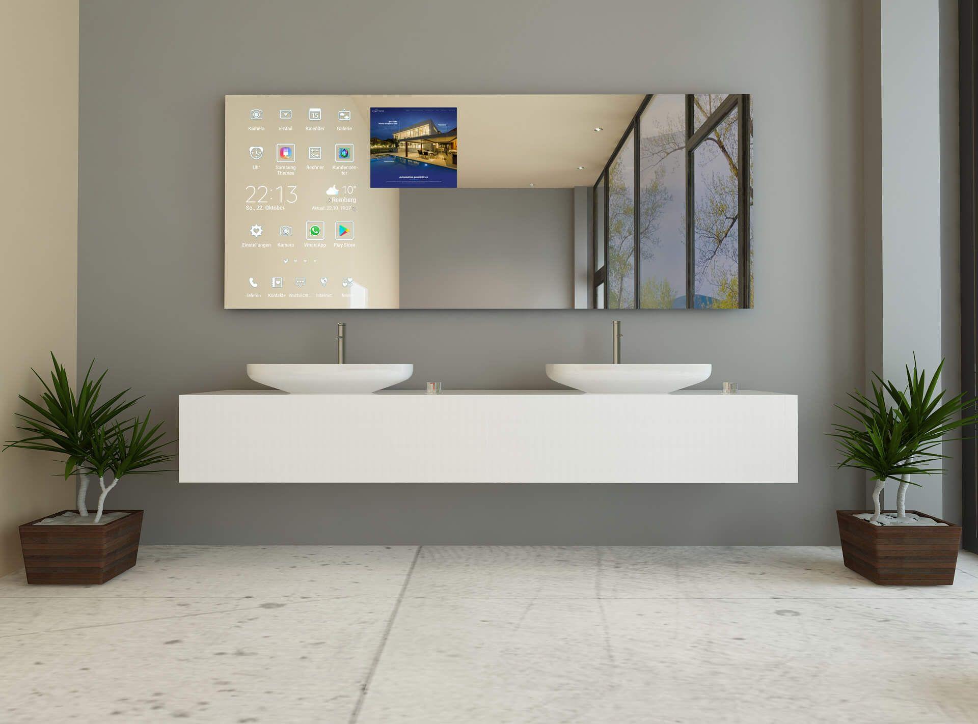 Smart Mirror Badezimmerspiegel Badezimmer Bad Spiegel Beleuchtung