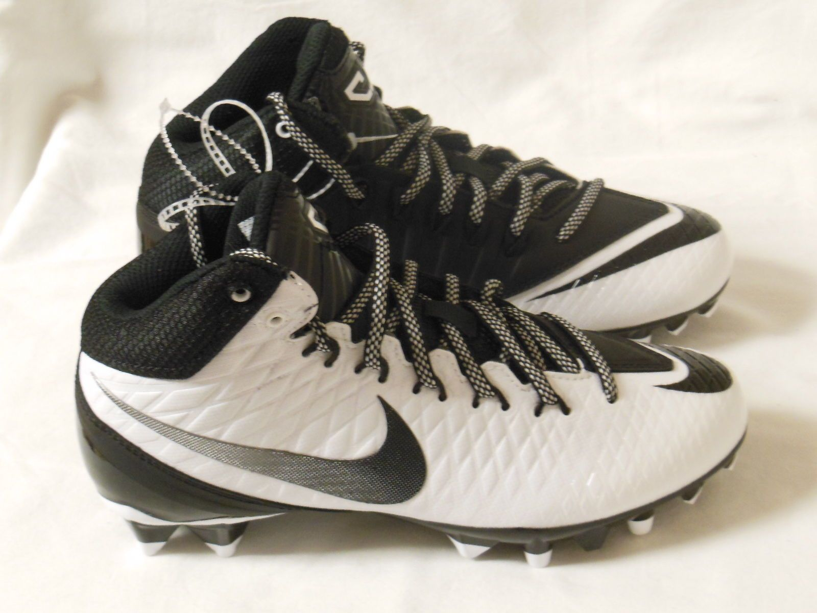 a5994d1ff Nike Calvin Johnson CJ3 Pro TD Youth Football Cleats White 723975-100 Size  4Y