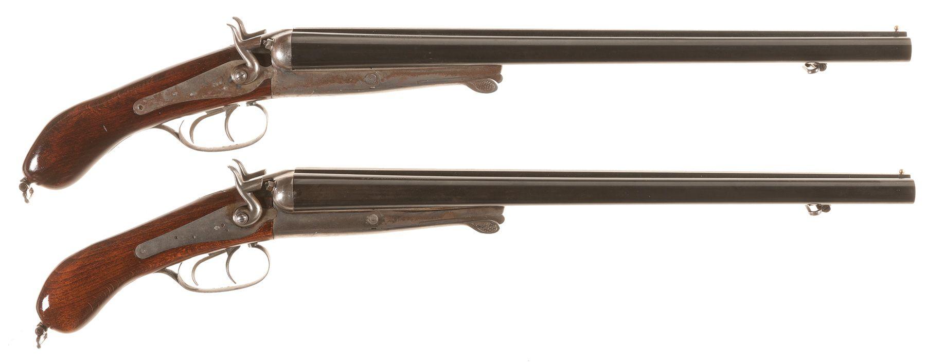 Two Husqvarna 'Lupara' Pattern Double Barrel Shotguns