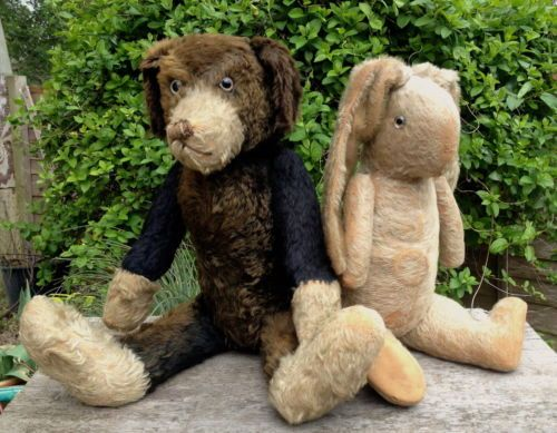 Old Vintage Antique Farnell Pip Squeak Wilfred Dog Teddy Bear C 1925 Sold For 780 00 On Ebay From Uk Got Antique Teddy Bears Teddy Bear Animals Friends