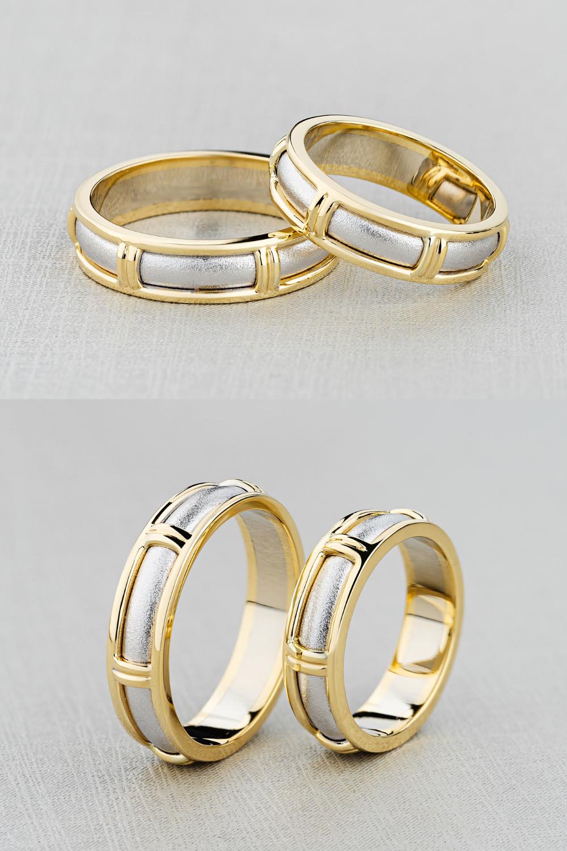 Matching Wedding Band Set Handmade 14k Gold Wedding Rings Etsy In 2021 Matching Wedding Band Sets 14k Gold Wedding Ring Wedding Band Sets