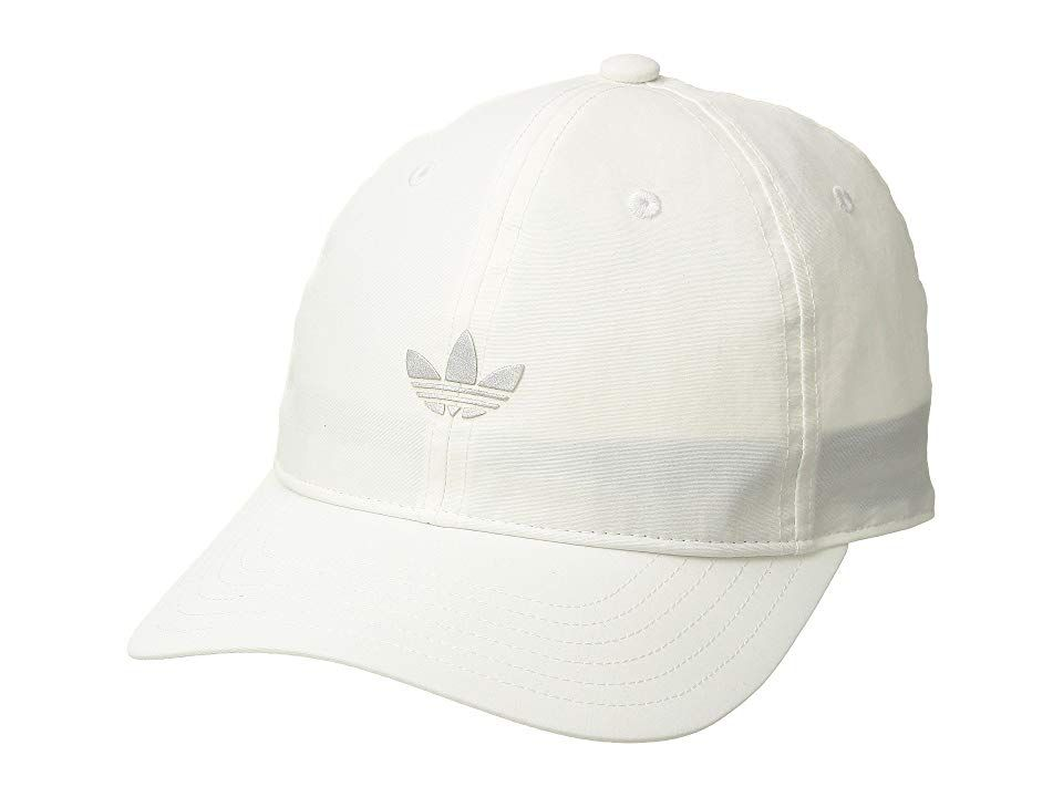 7651052a adidas Originals Originals Relaxed Modern II (White/Reflective Silver) Caps.  Simplicity goes