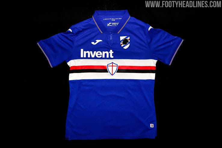 Sampdoria Home 19 20 Soccer Shirts Soccer Jersey Shirts