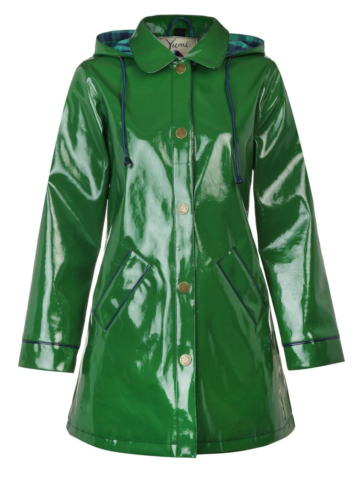 on sale 2019 wholesale price best supplier Shiney Mac @Yumi Direct #pintowin | Raincoat/wear | Green ...