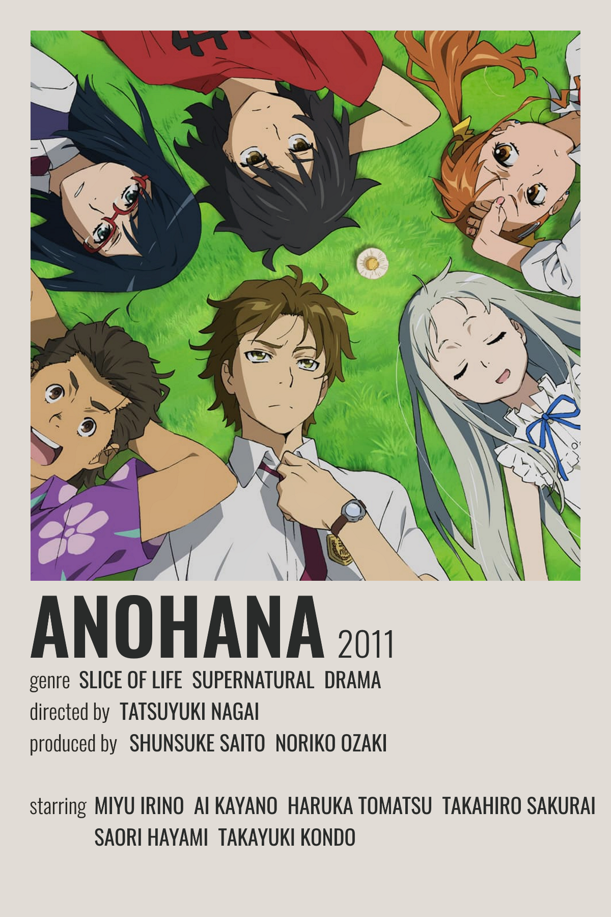 anohana poster in 2021 anime canvas
