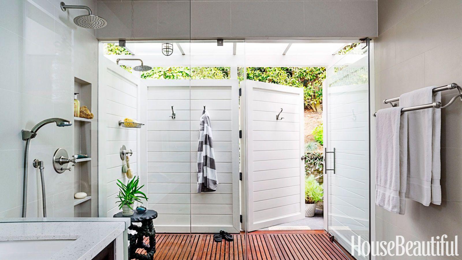 indoor/outdoor shower | Home | Pinterest | Outdoor bathrooms, Indoor ...