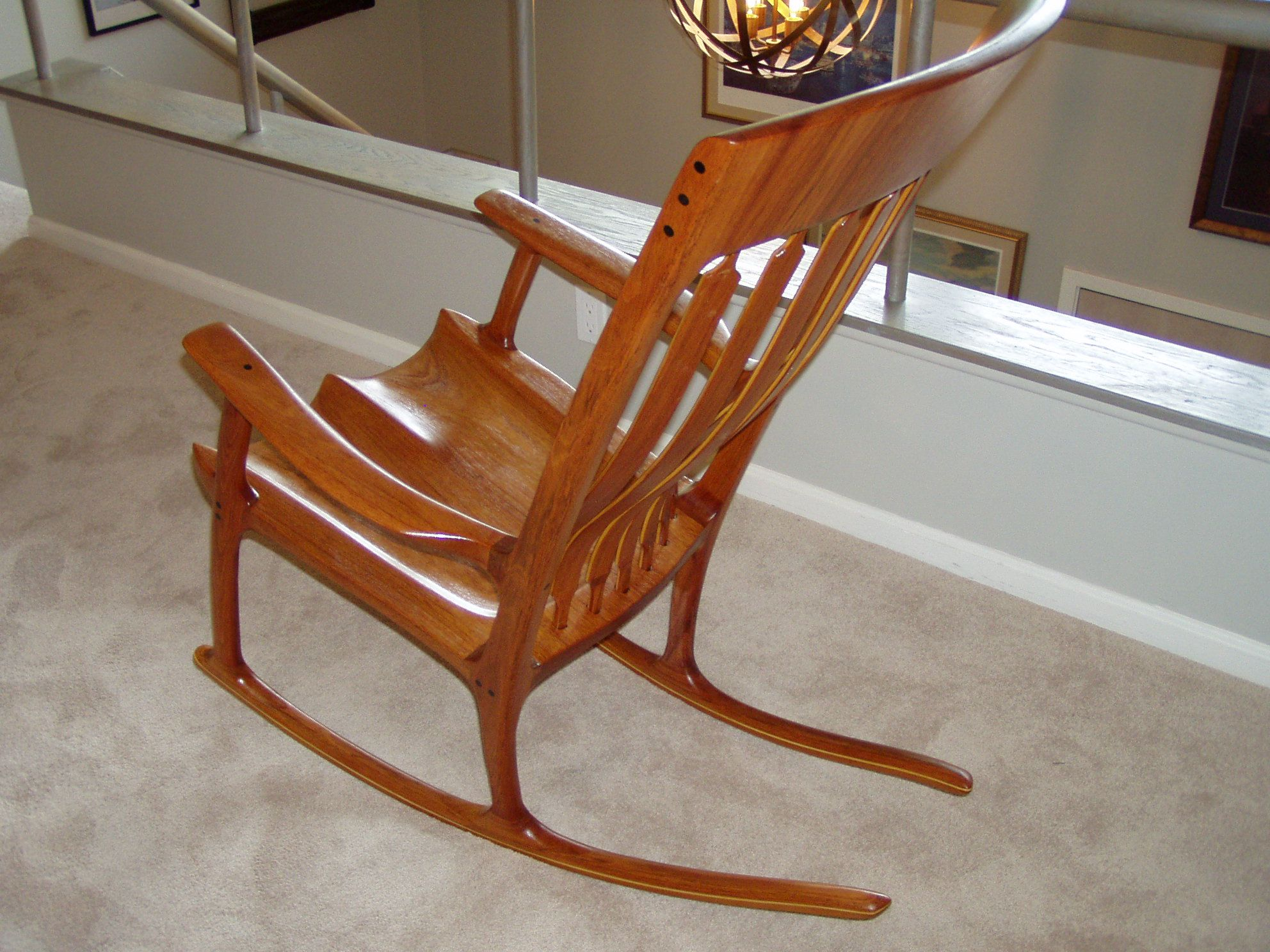 Sam Maloof And Hal Taylor Inspired Rocking Chair Shown