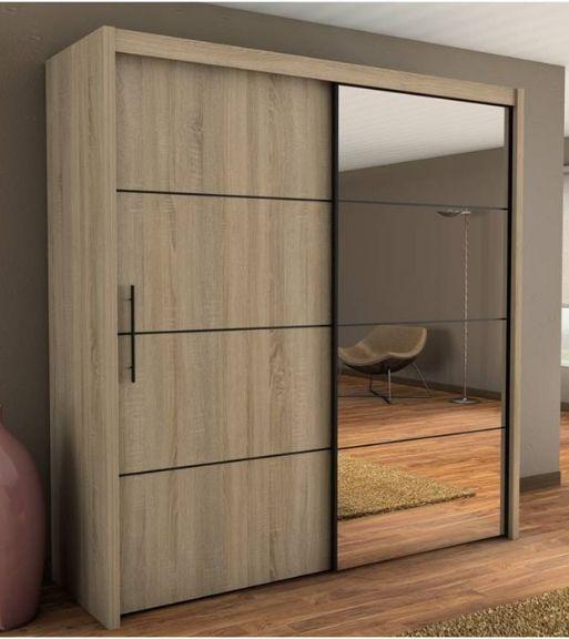 Cheap Bedroom Design Ideas Sliding Door Wardrobes: Inova Oak 2 Door Sliding Door Wardrobe Slider 200cm