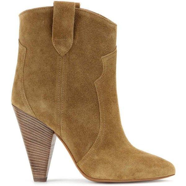 Étoile Roxann suede boots (6.245 HRK) via Polyvore featuring shoes, boots, suede leather boots, black boots, isabel marant shoes, suede boots and suede shoes