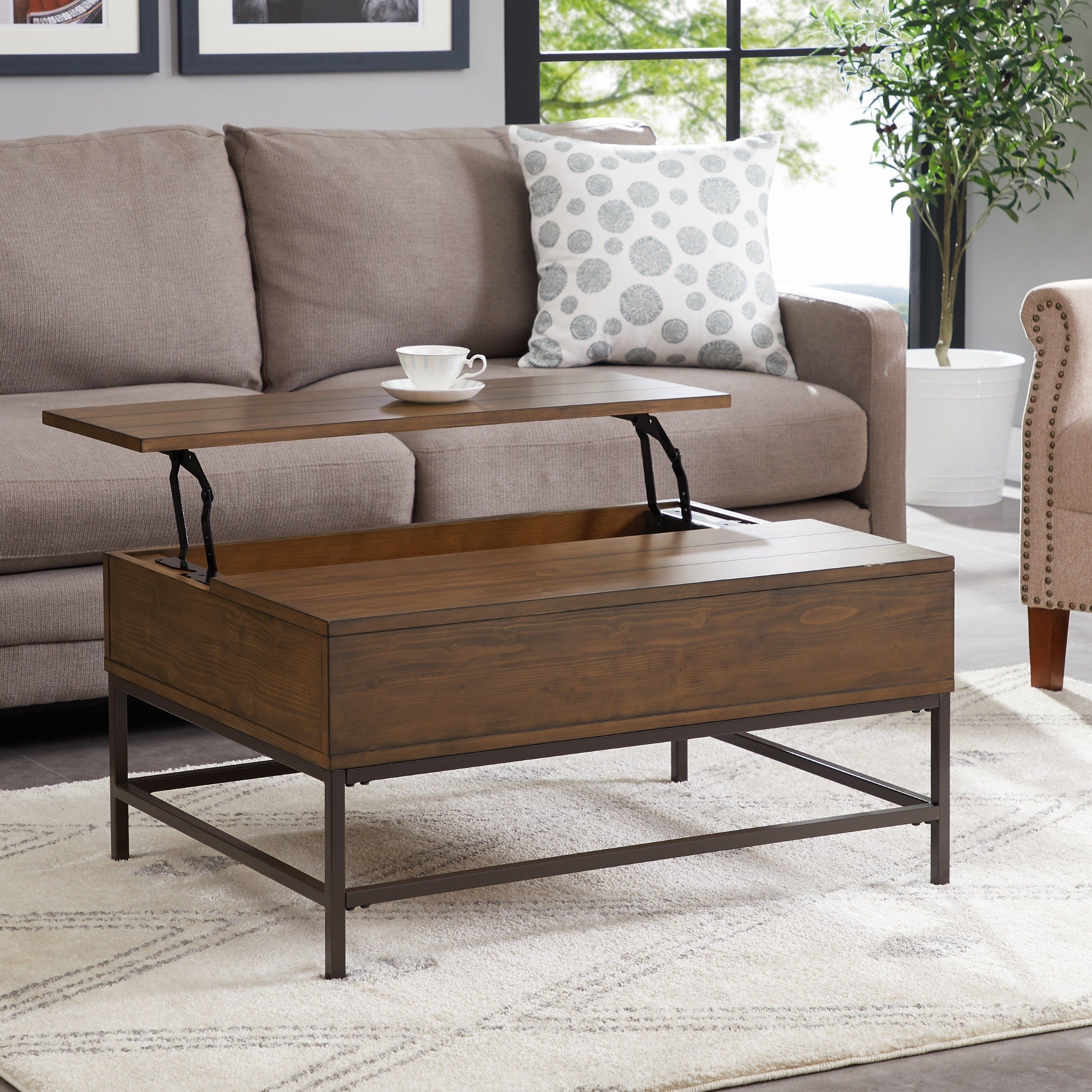 Alden Brown Pine Lift Top Coffee Table By Greyson Living Coffee