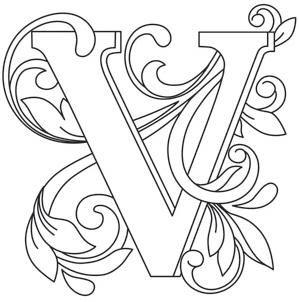 Letter Perfect - Letter V_image   Embroidery, Crochet and ...