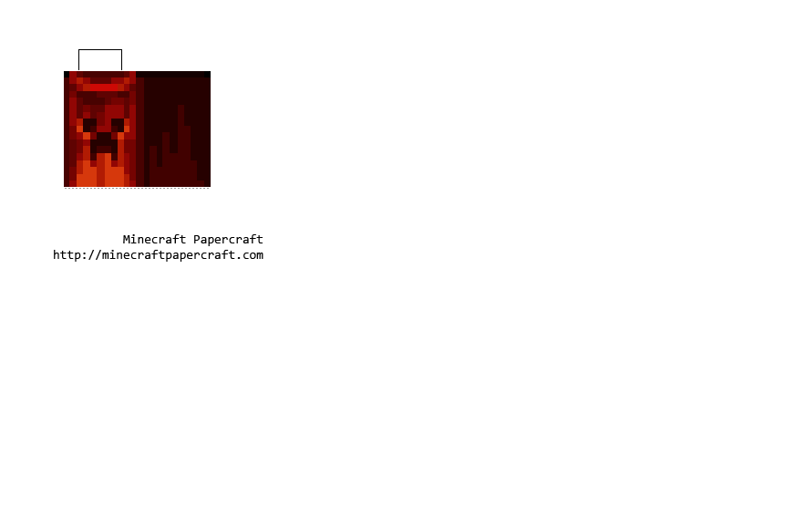 Papercraft Minecon 2011 Cape (Creeper Cape) | pixelpapercraft